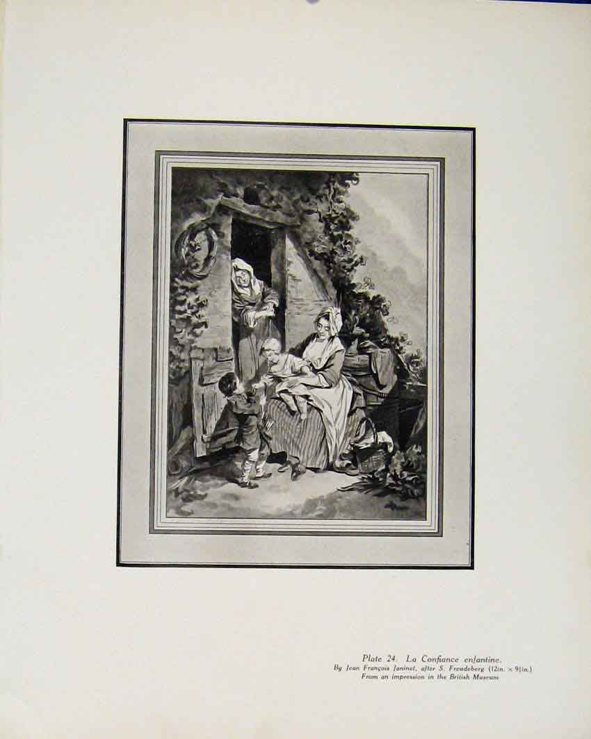 Print Limited Edition By J Francois La Confiance Enfantine 157711 Old Original