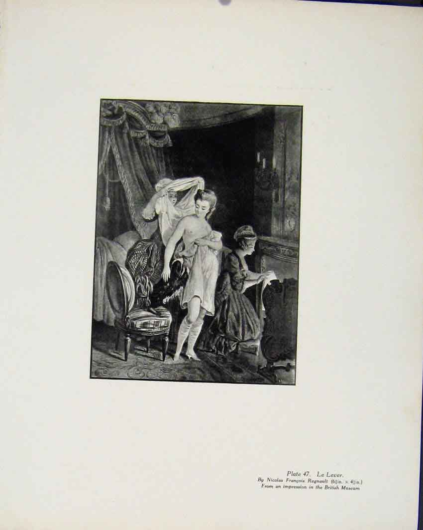 Print Le Lever By N Francois Limited Edition Art 327711 Old Original