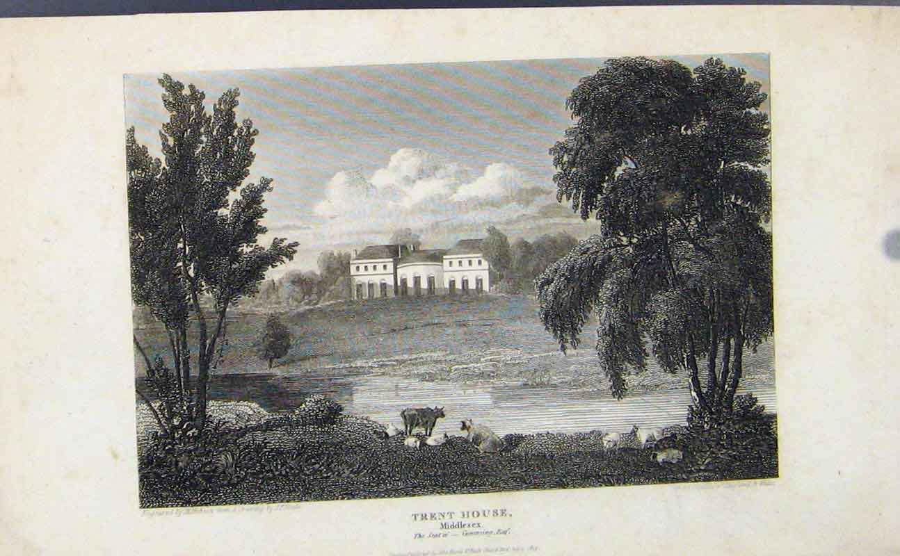Print Trent House Middlesex England C1849 Fine Art 157721 Old Original