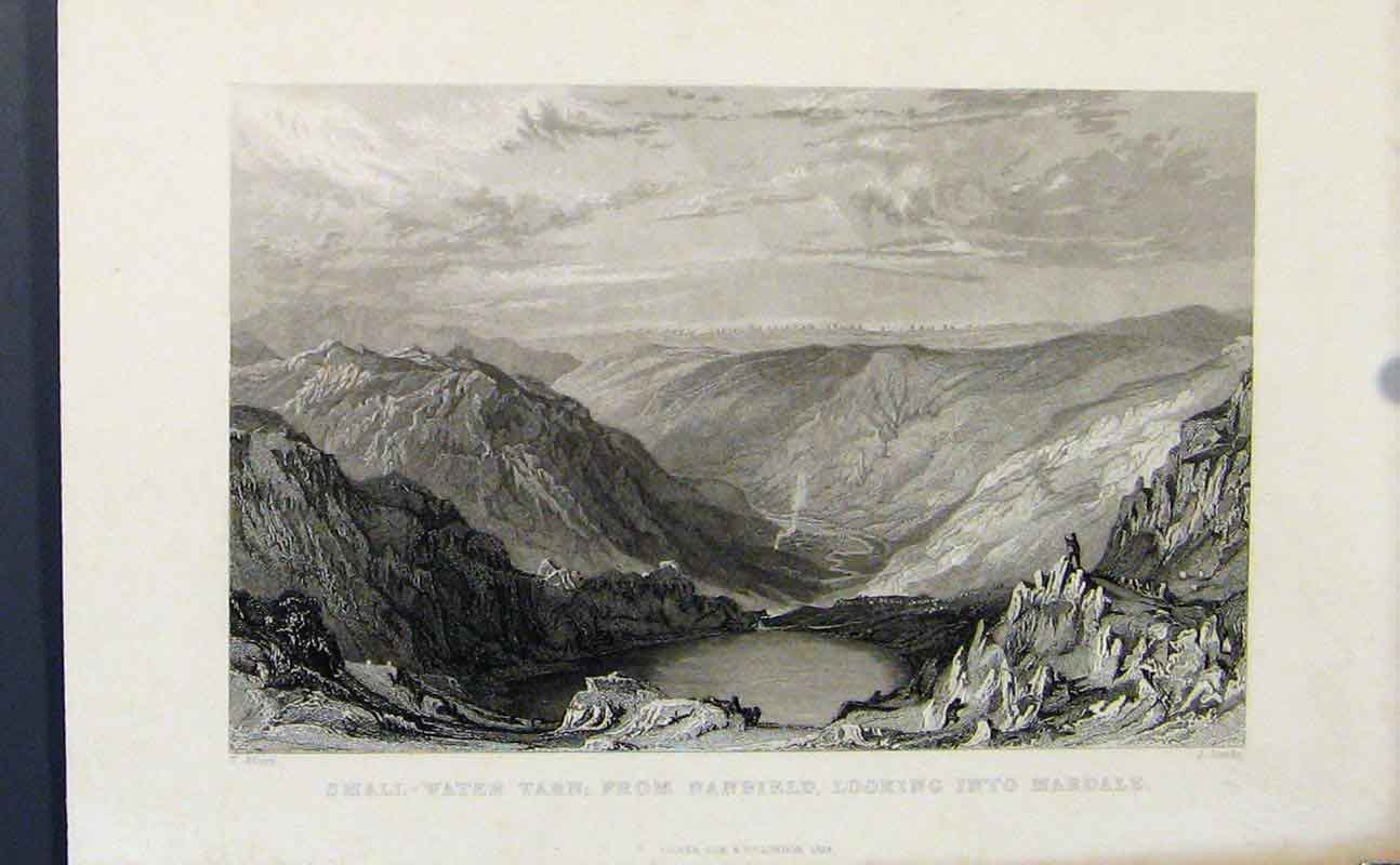 Print Small Water Tarn Nanbield Mardale C1849 357721 Old Original