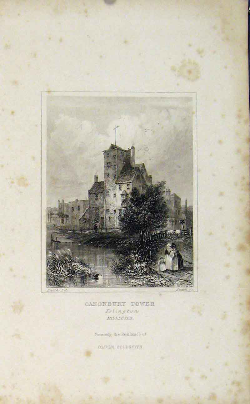 Print Canonbury Tower Islington Middelsex England 667721 Old Original