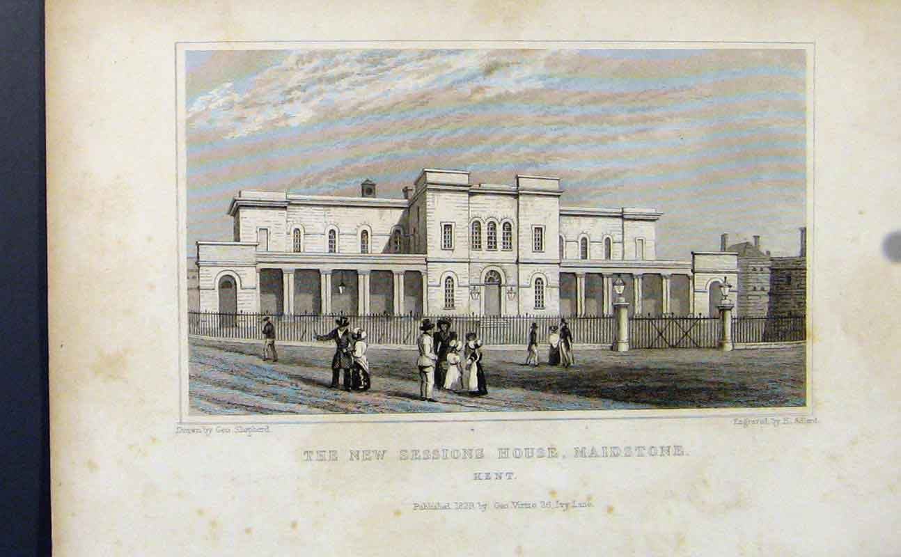 Print New Sessions House Maidstone Kent 867721 Old Original