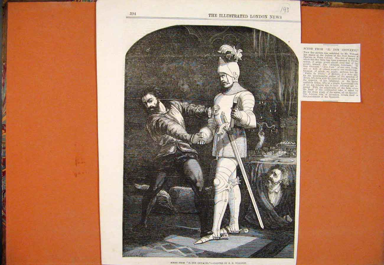 Print Scene Il Don Giovanni Wehnert Fine Art 937761 Old Original
