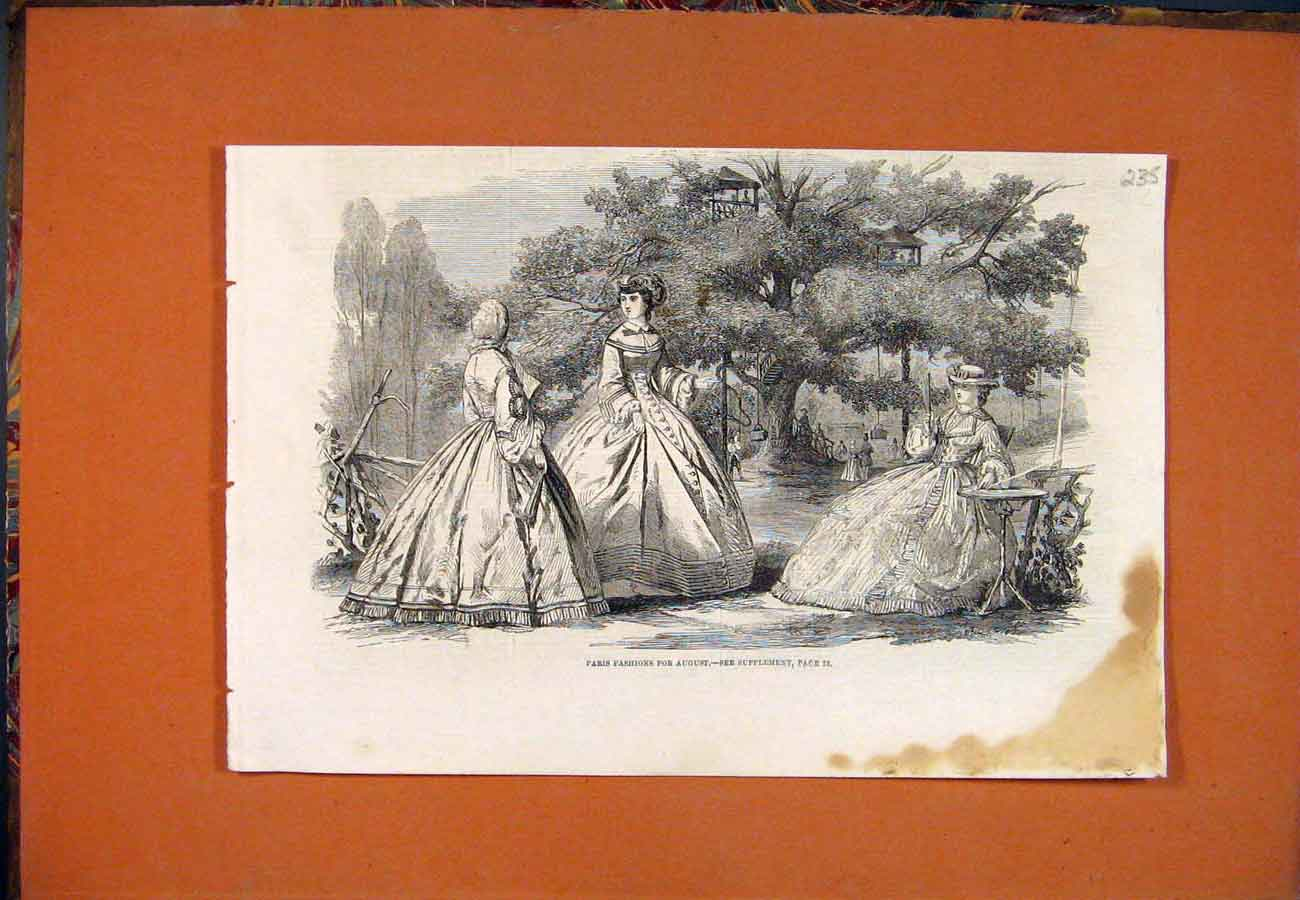 Print Paris Fashions Ladies Park 357761 Old Original