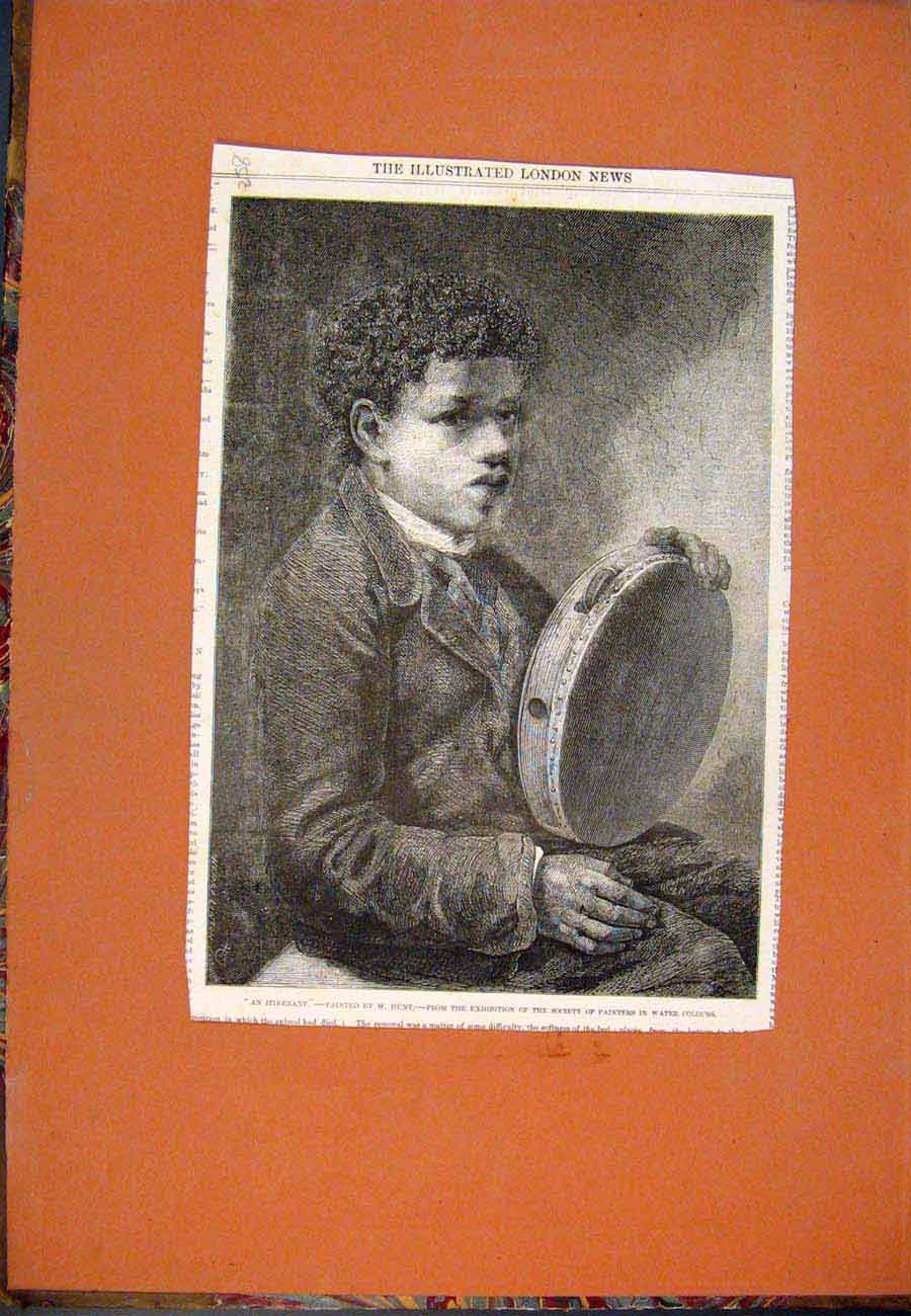 [Print Portrait Itinerant Hunt Painters Society Fine Art 587761 Old Original]