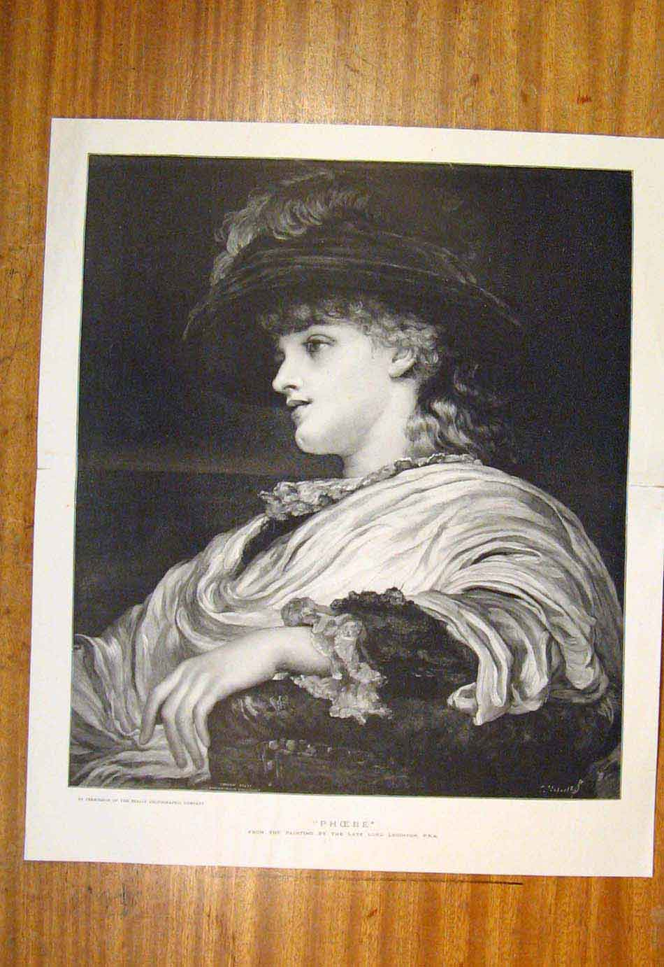 Print Phoebe Leighton Lady Portrait Fine Art 447761 Old Original