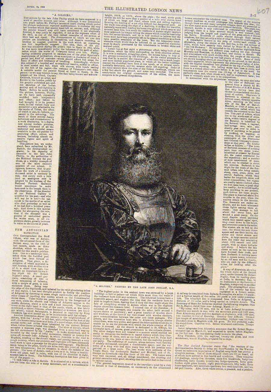 Print Soldier Portrait Phillip Fine Art 186 077761 Old Original