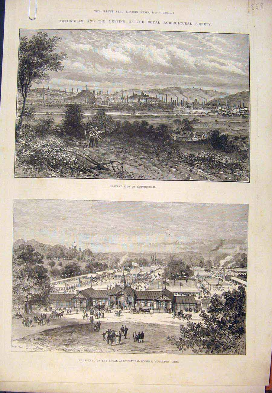 Print 1888 Nottingham Royal Agricultural Society College 58A7761 Old Original