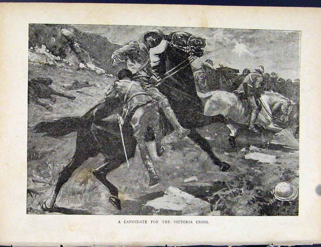 Print Boer War By Richard Danes Candidate For Victoria Cross 297871 Old Original