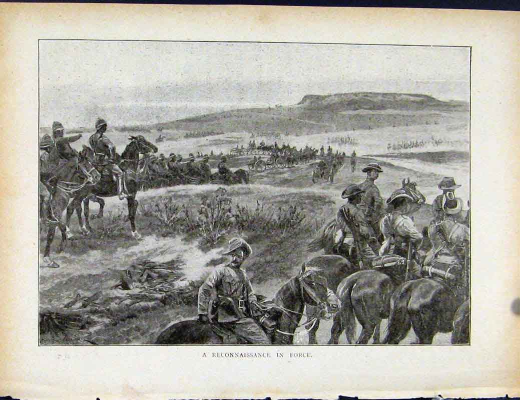 Print Boer War By Richard Danes Reconnaissance In Force 1877871 Old Original