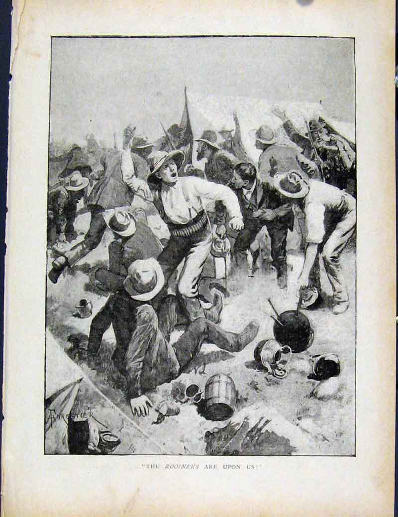 Print Boer War By Richard Danes Rooineks Are Upon Us 2987871 Old Original