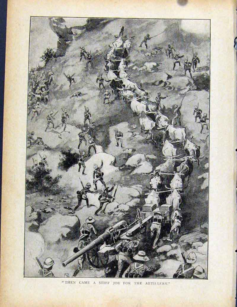 Print Boer War By Richard Danes Artilery Job Fine Art 157871 Old Original