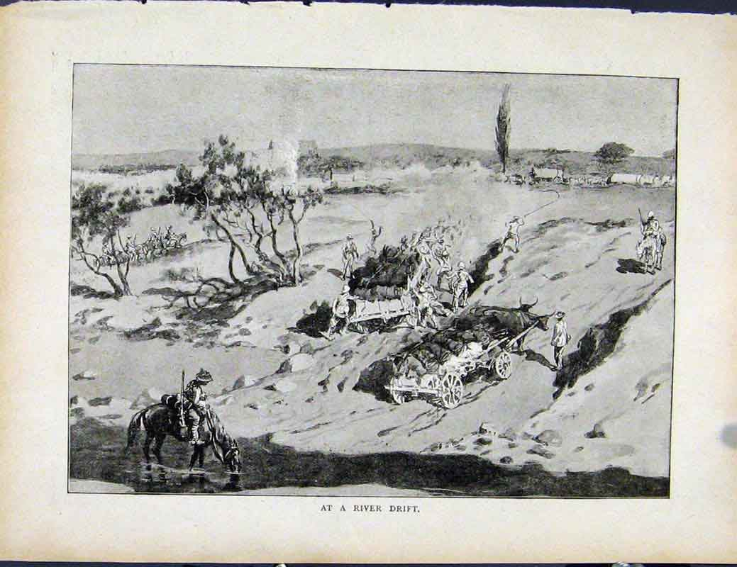 Print Boer War By Richard Danes At River Drift Fine Art 067871 Old Original
