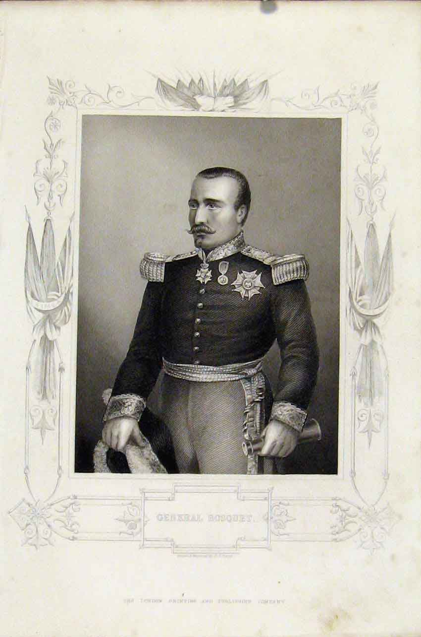 Print General Bosquet Portrait Fine C1855 087891 Old Original