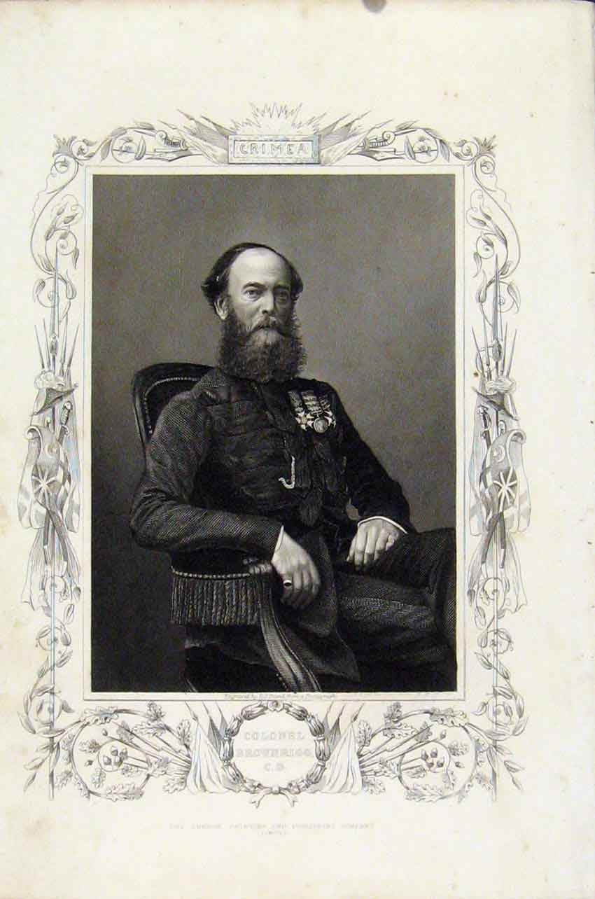 Print Colonel Brownrigg Portrait Fine Art 497891 Old Original