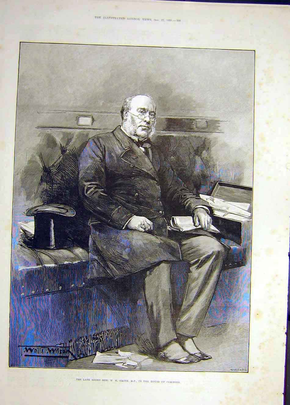 Print 1891 Smith Portrait House Commons 057921 Old Original