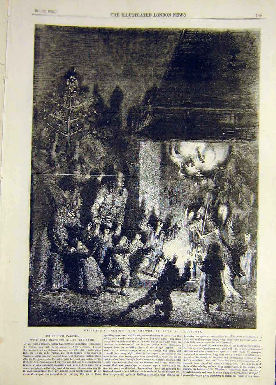 Print 1855 Children Party Toys Christmas 547921 Old Original