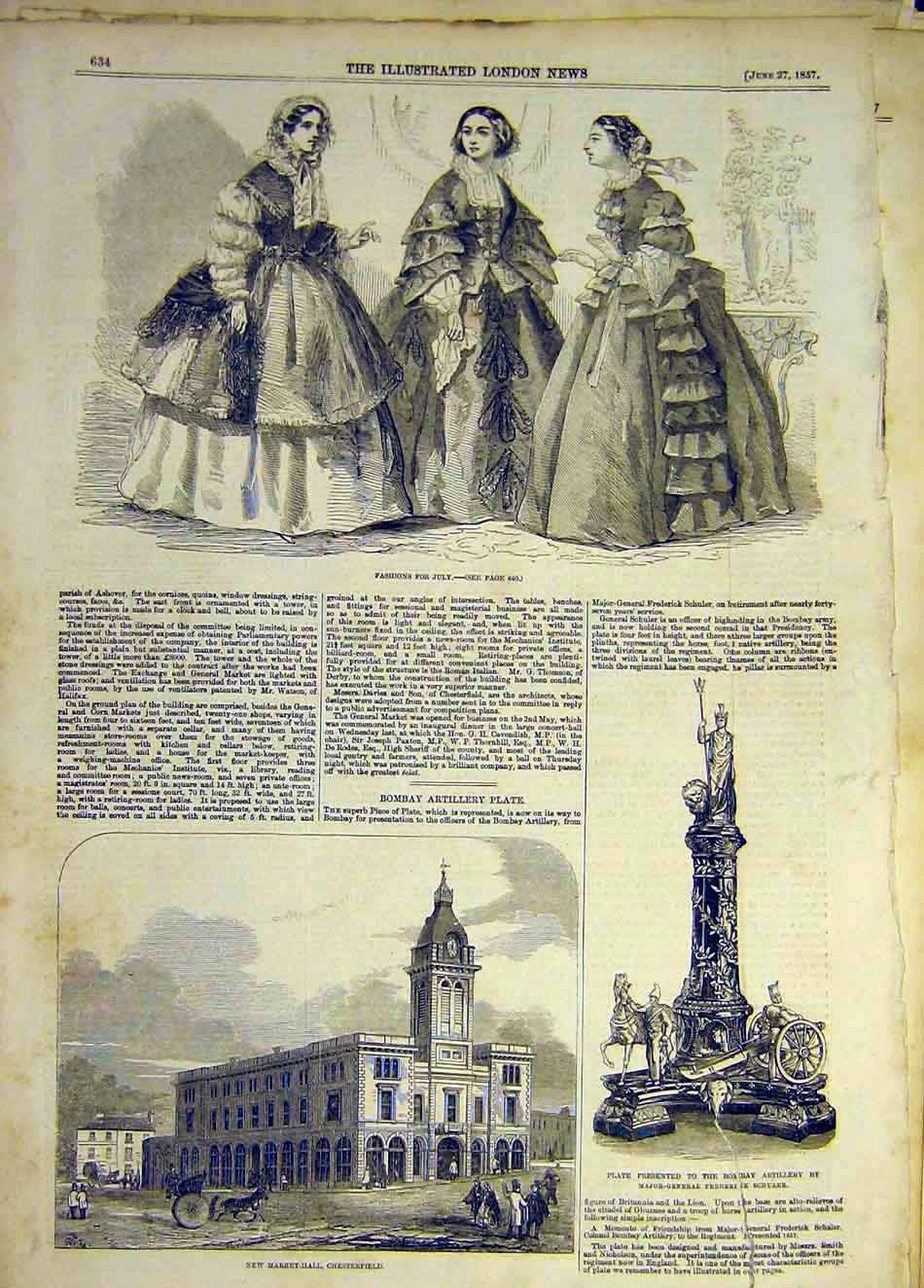 Print 1857 Fashions Ladies Chesterfield Market Bombay Plate 777941 Old Original
