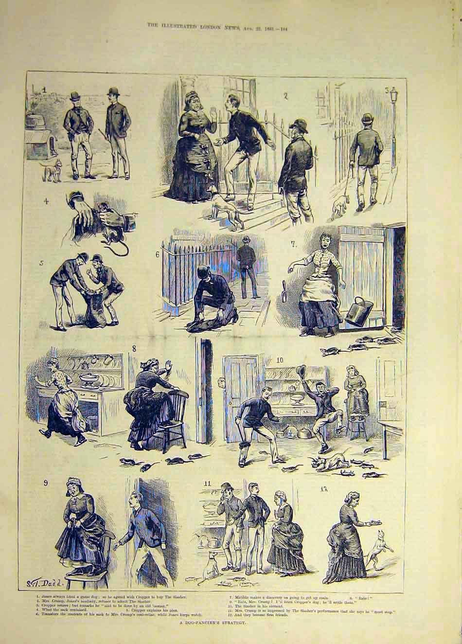Print 1885 Brown'S Betrothal Seaside Comedy Sketch 567941 Old Original