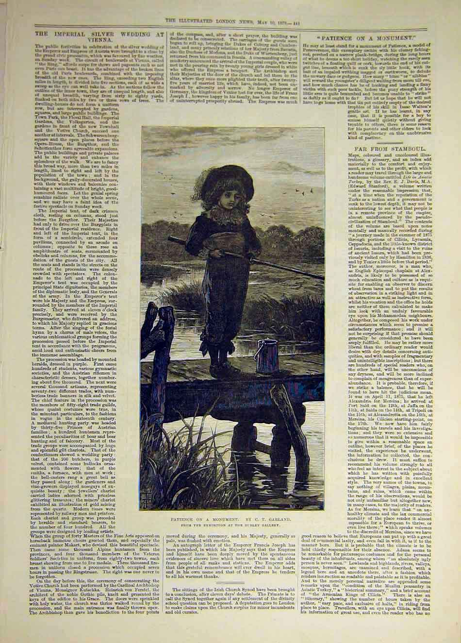 Print 1879 Patience Monument Garland Fine Art 657941 Old Original