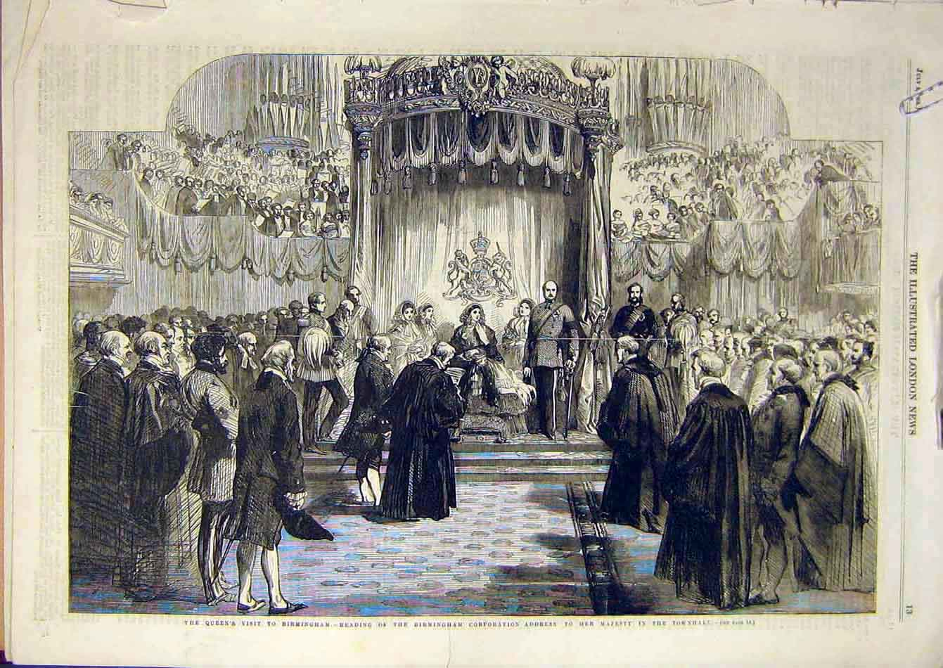 Print Birmingham Aston Hall Queen Visit Townhall 83A7951 Old Original