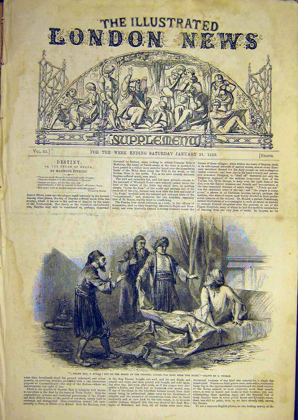 Print 1852 Thomas Prophet Azreal Boswell Johnson 86A7951 Old Original