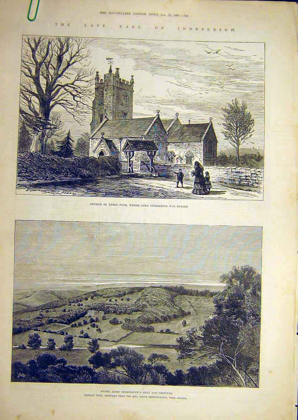 Print 1873 Manoeuvres Dartmoor Sketches Bovey Chagford 99A7951 Old Original