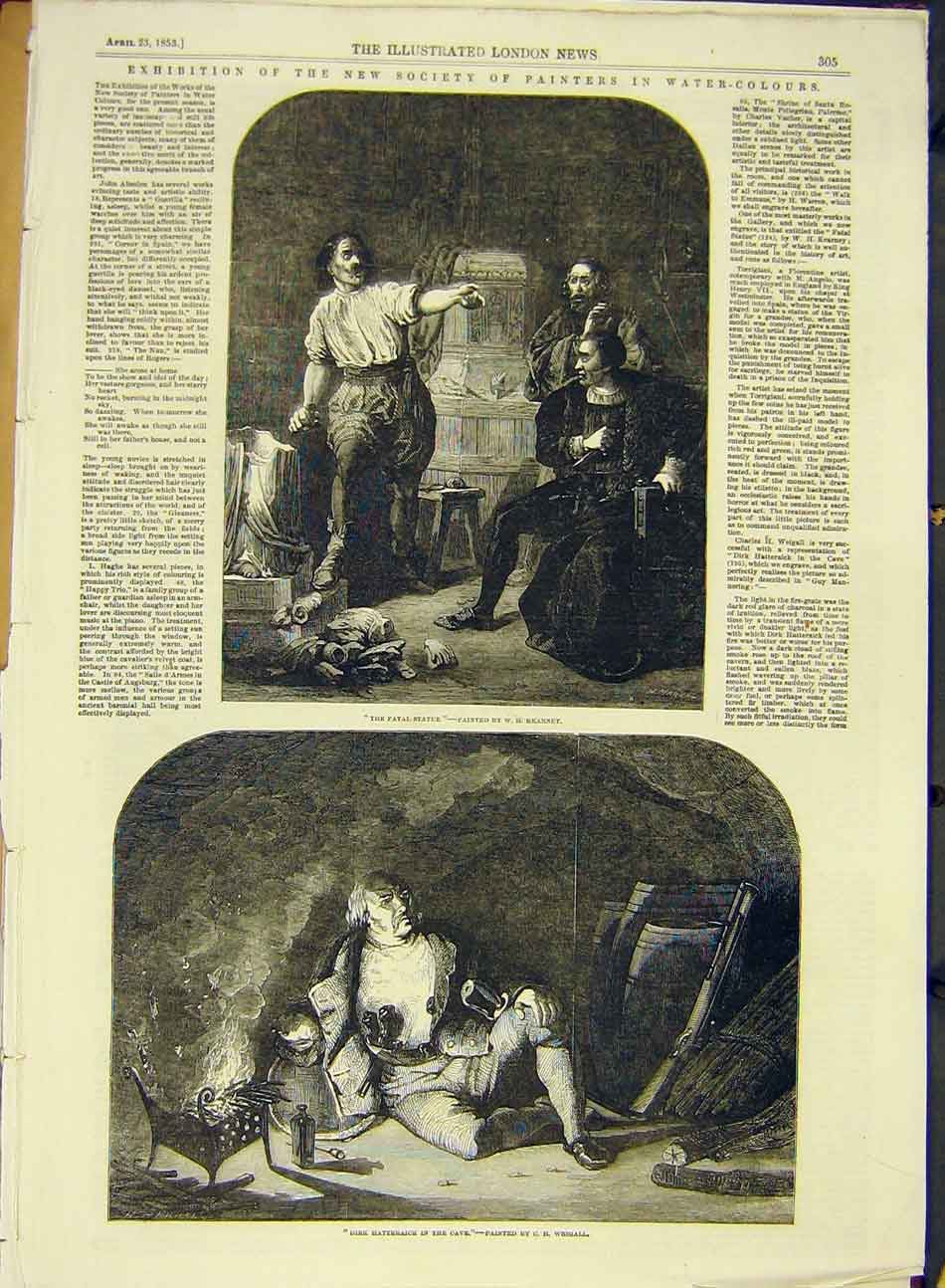 [Print 1853 Fine-Art Society Painters Kearnley Weigall 957991 Old Original]