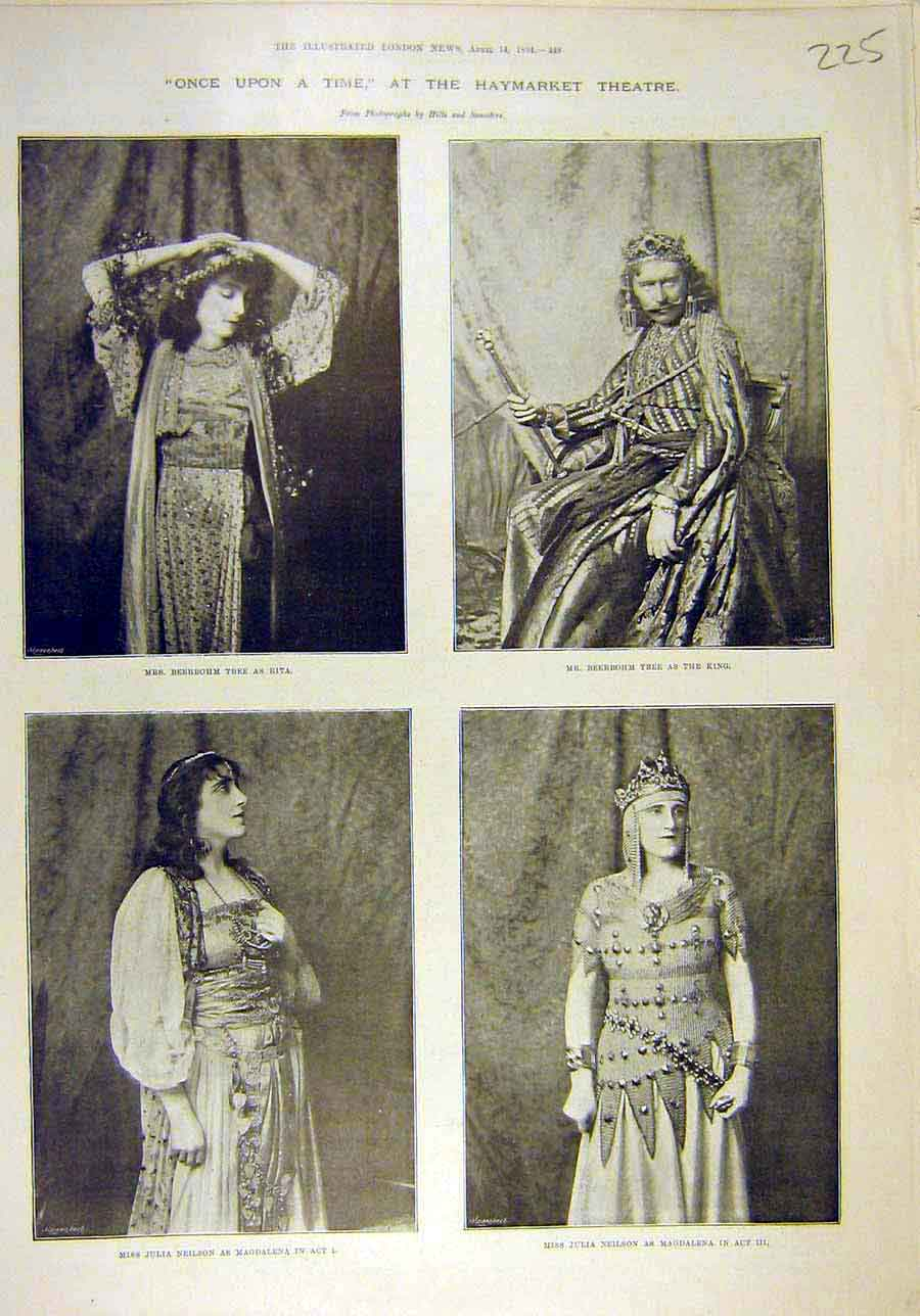 Print 1894 Haymarekt Theatre Tree Neilson Actors Actress 258011 Old Original
