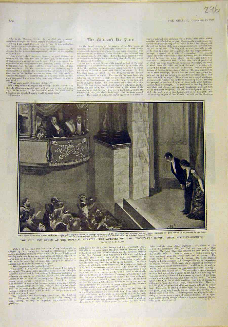 Print 1902 King Queen Imperial Theatre Crossways Scene 968011 Old Original