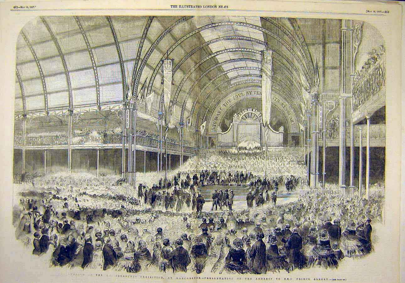 Print 1857 Art-Treasures Exhibition Prince Albert 18T8071 Old Original