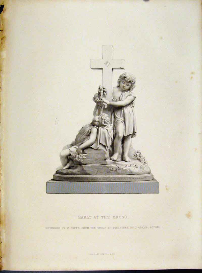 Print Early At The Cross Engraving Roffe C1874 Art 348091 Old Original