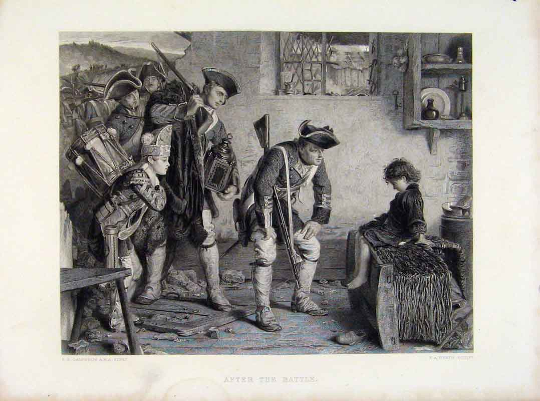 Print After The Battle Calderon Engraved Plate C1875 168121 Old Original