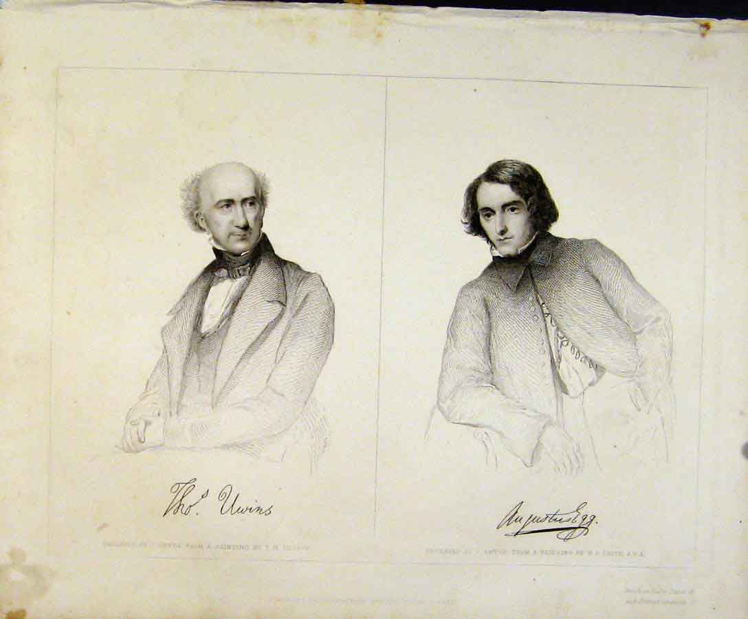 Print Engraved Plates By Smyth C1847 Signatured Portraits Art 178131 Old Original