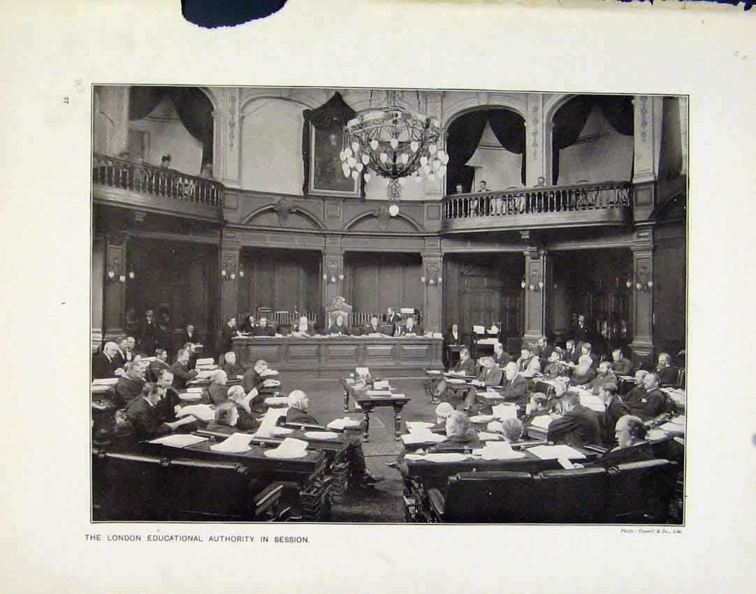 Print Lodon Educational Authority Session Let Us Sing Photo 01R8161 Old Original