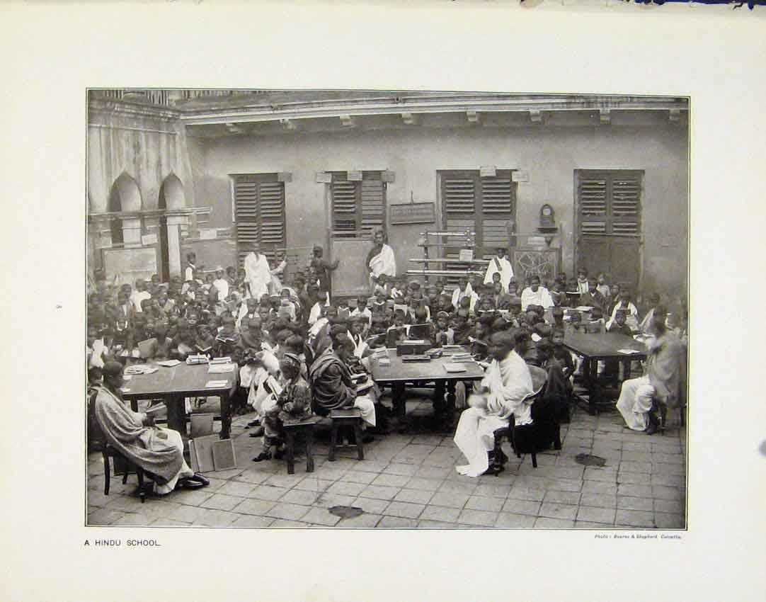 Print Hindu School Famous London Council Photographs C1910 05R8161 Old Original