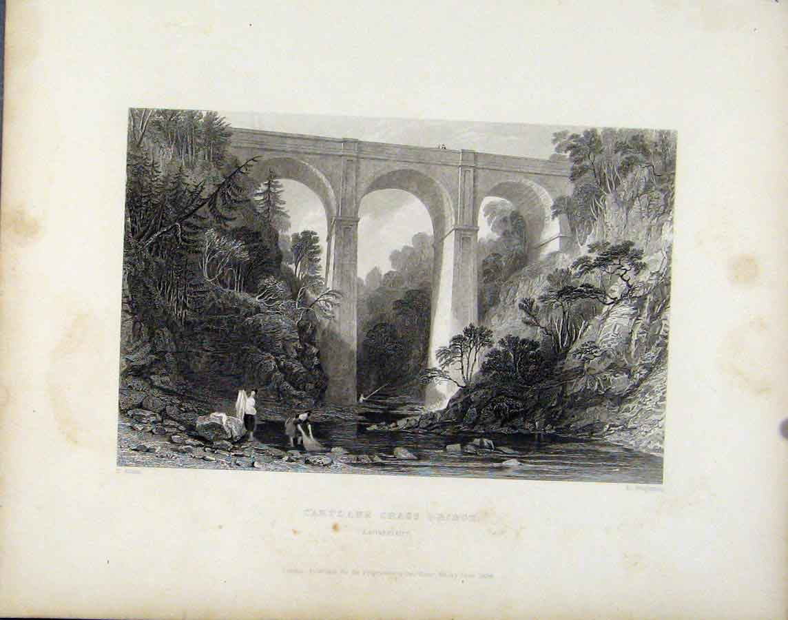Print Cartlane Grags Bridge Scotland Lanarkshire 228181 Old Original