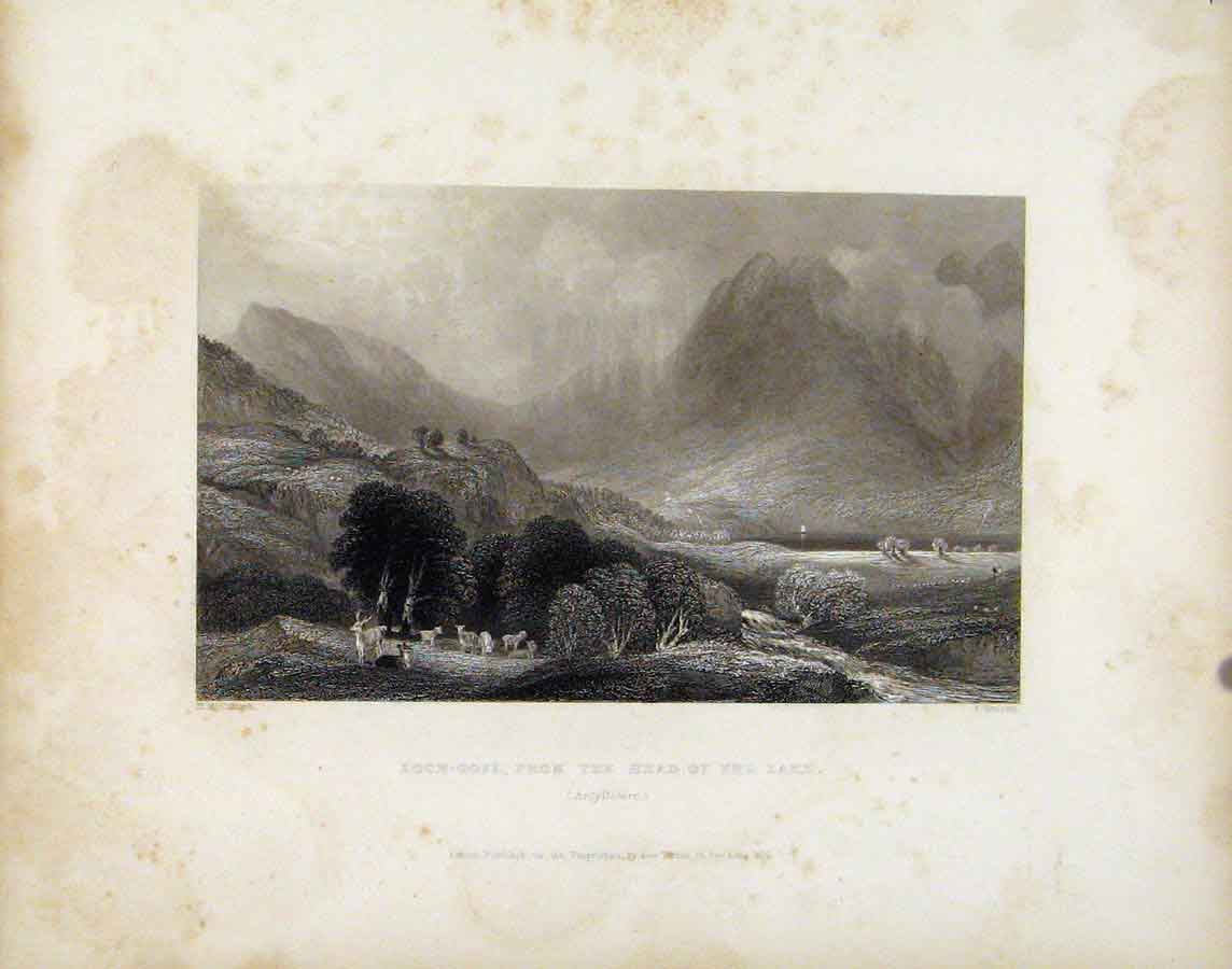 Print Loch Goil Head Lake Argyilshire Scotland 248181 Old Original