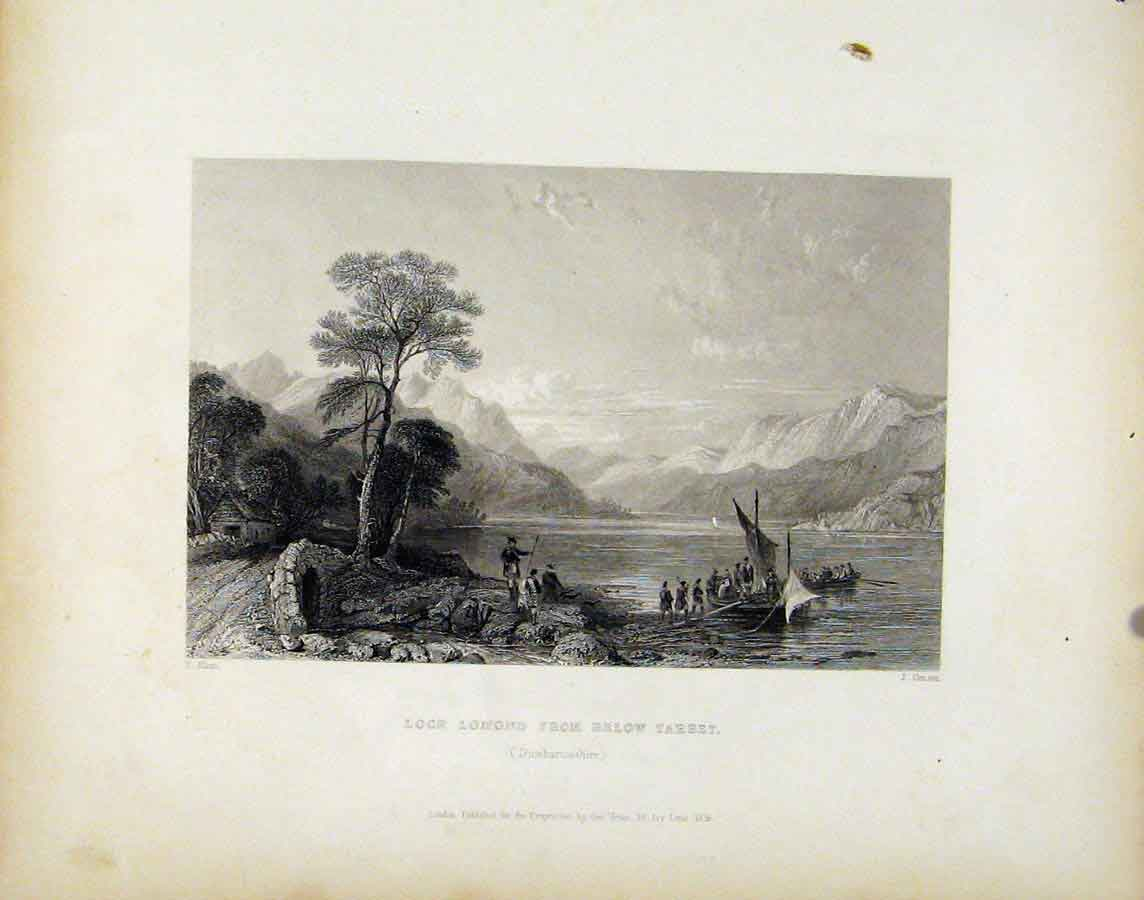 Print Loch Lomond Below Tarbet Dumbartonshire Scotland 258181 Old Original