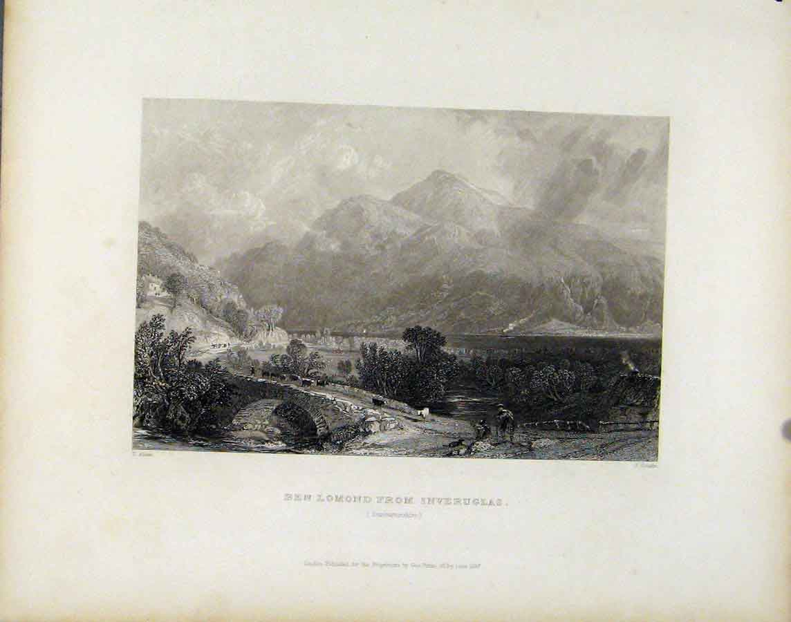 Print Scotland Ben Lomond Inveruglas C1839 268181 Old Original