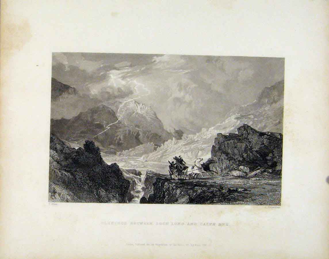 Print Glencror Between Loch Long And Cairn Dhu Scotland 348181 Old Original