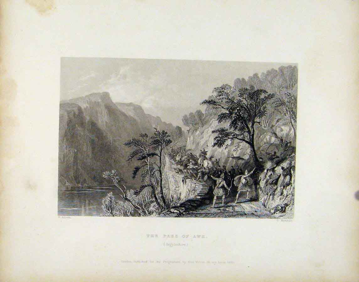 Print Scotland C1839 Pass Awe Argyleshrie 398181 Old Original