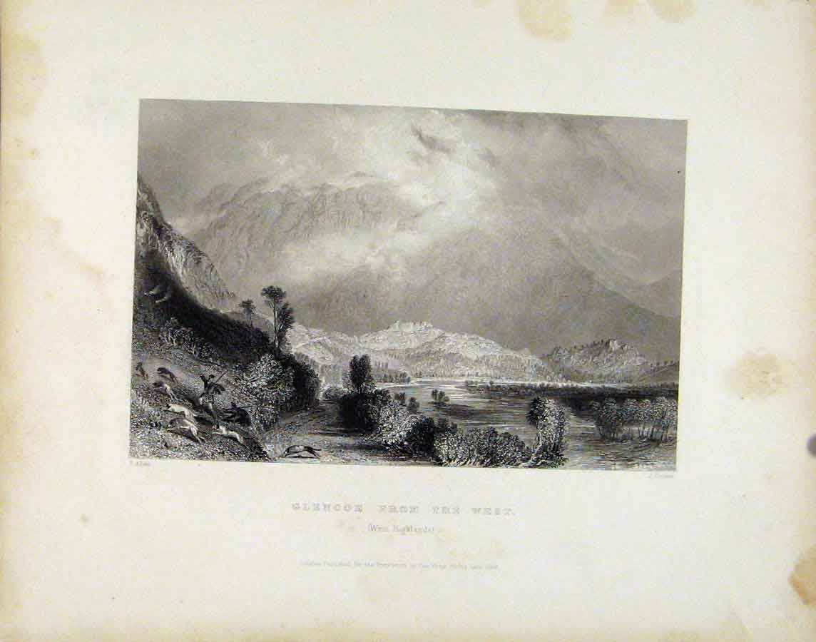 Print Glencoe West Highlands Scotland C1839 458181 Old Original