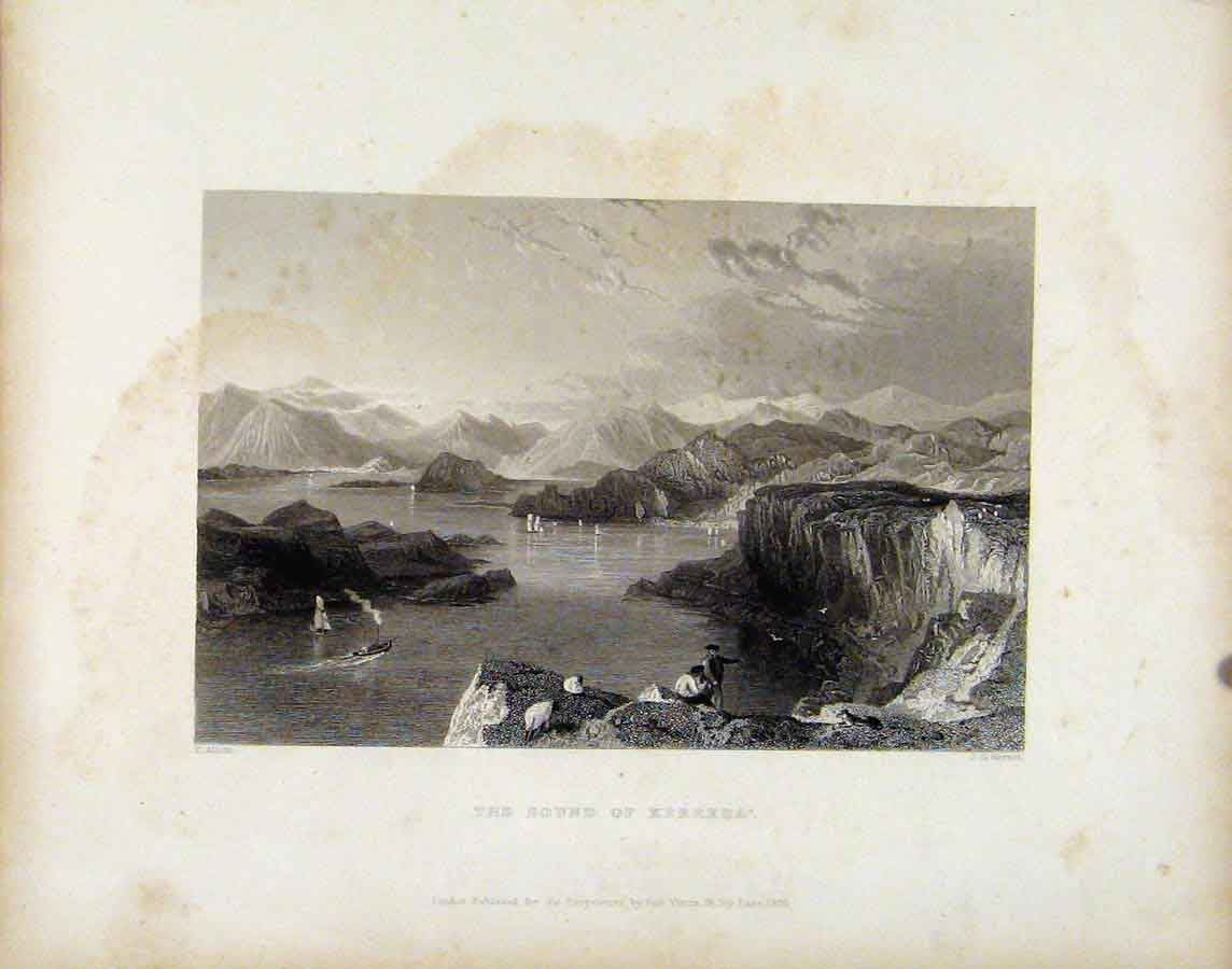 Print Scotland C1839 Sound Kerrera Fine Art 508181 Old Original
