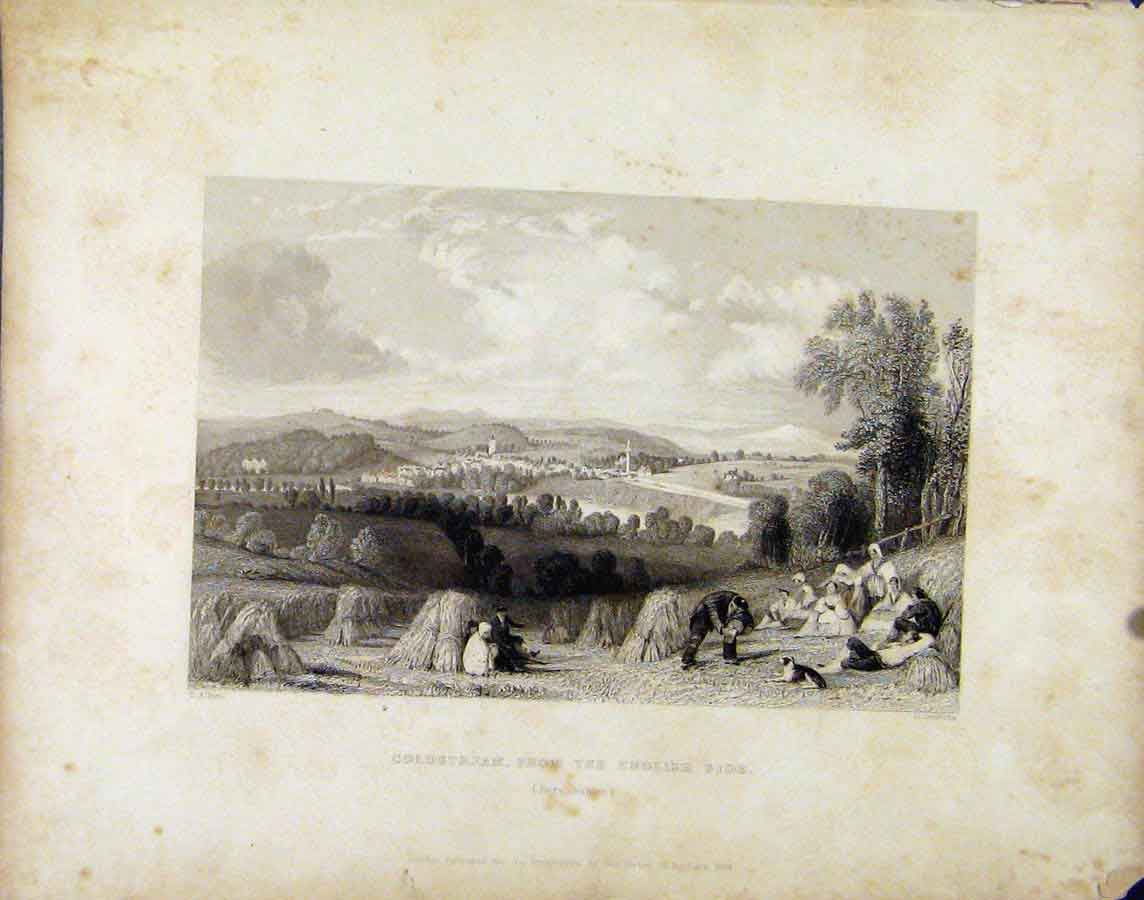 Print Coldstream English Side C1839 Scotland 068181 Old Original