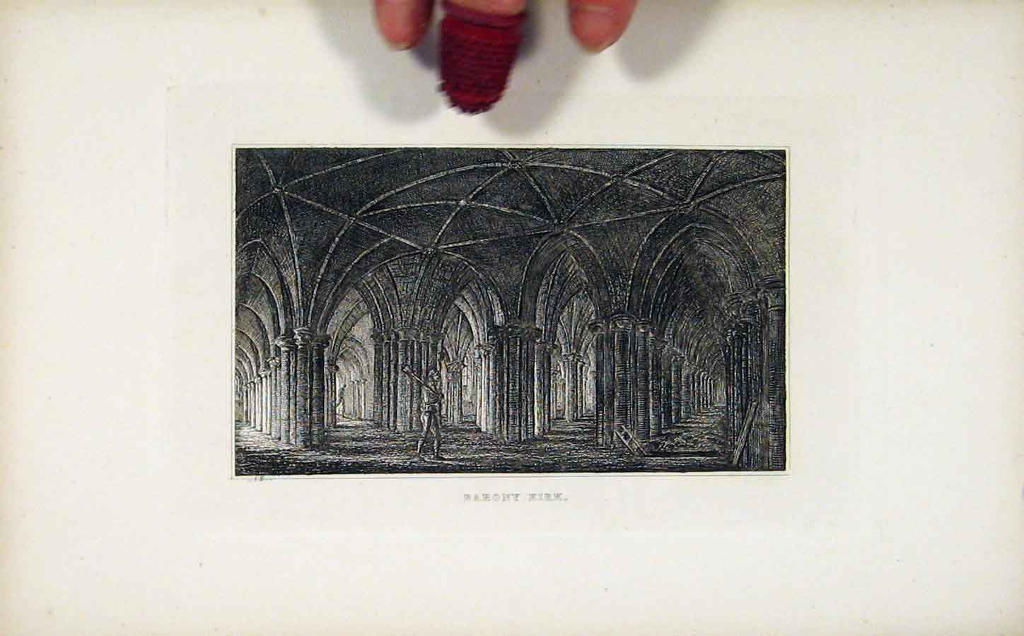Print Barony Kirk Etching Fine Art C1830 298191 Old Original