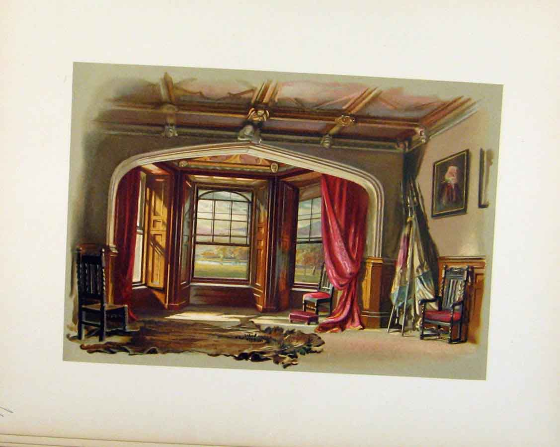 Print Dining Room Plate And Editorial C1893 Art 048201 Old Original