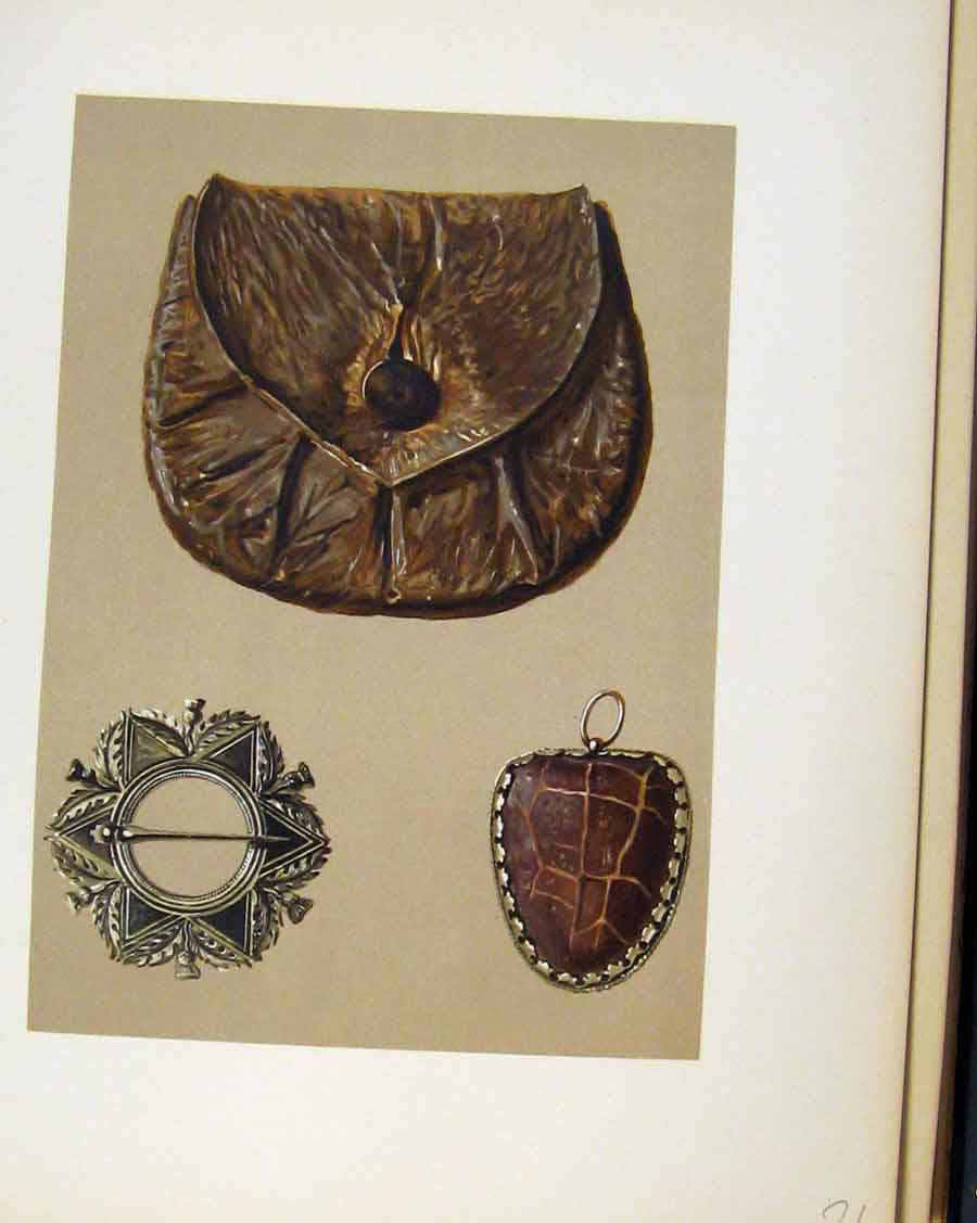 Print Rob Roys Purse C1893 Editorial Brooch 218201 Old Original