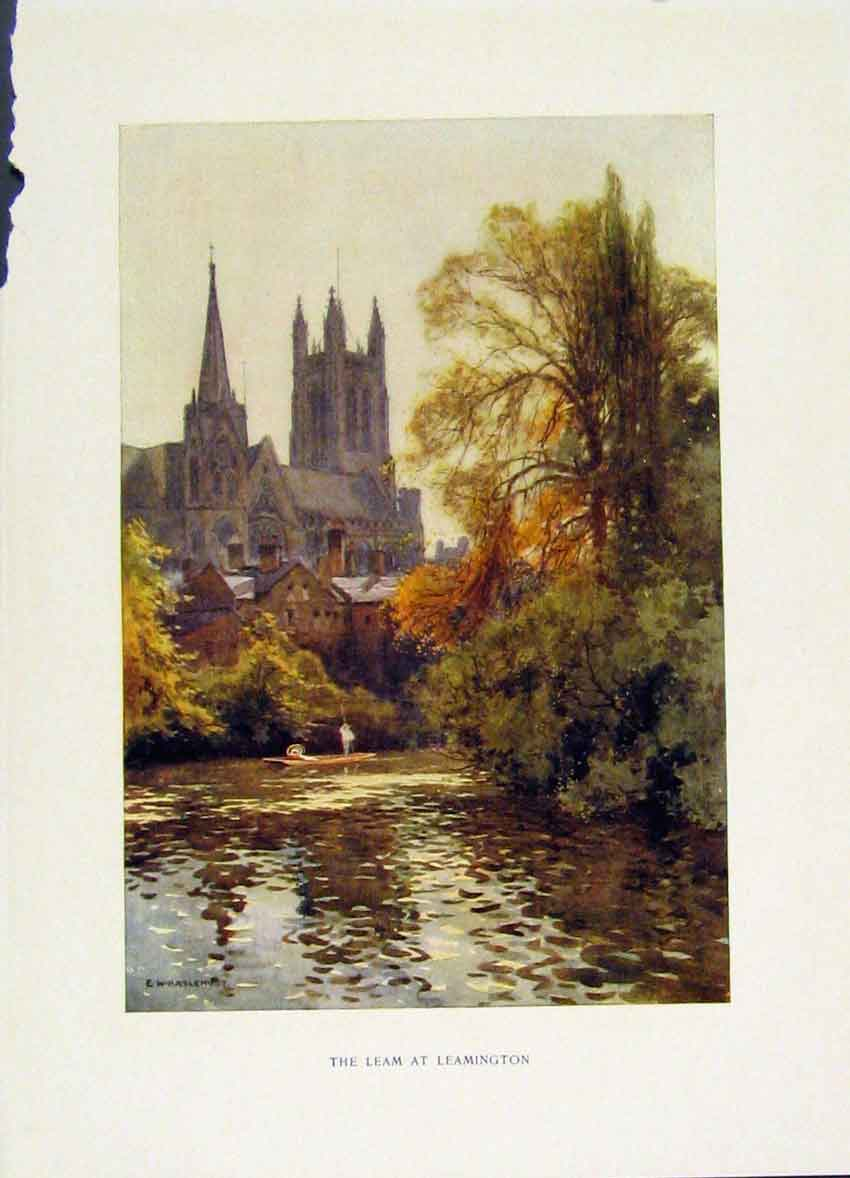 Print Leam Leamington C1920 Painting By Haslehust Fine Art 438251 Old Original