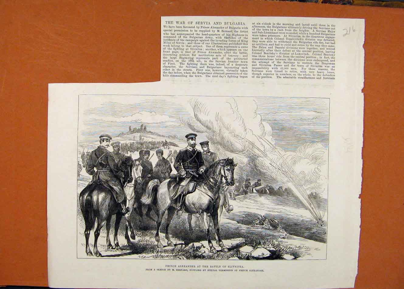 Print Prince Alexander Battle Slivnitza C1886 London News 168260 Old Original